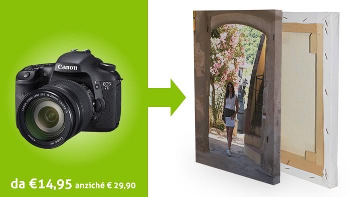 Crea un fotoquadro personalizzato con una tua fotografia a partire da 14,95 Euro