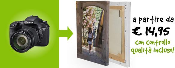 Crea un fotoquadro personalizzato con una tua fotografia a partire da 29,90 Euro