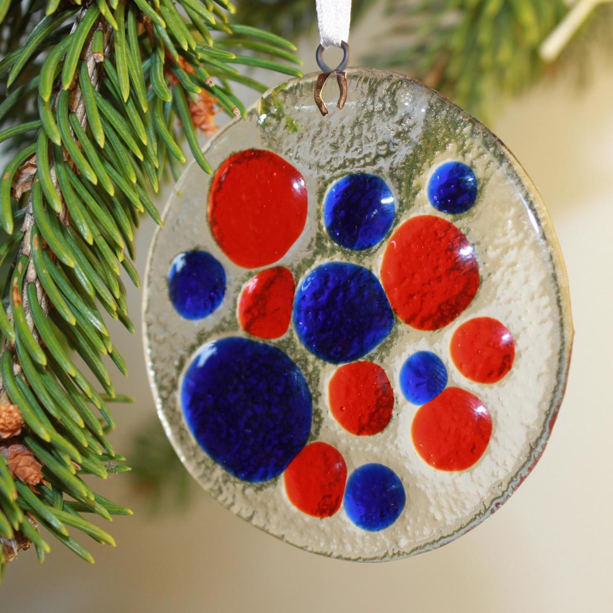 Decorazione tonda natalizia in vetro di murano livingdeco 39 - Decorazioni natalizie in vetro ...