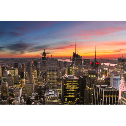 Tramonto su New York City