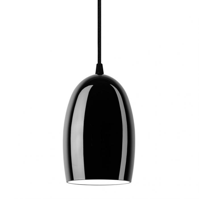 Lampada a sospensione UME 1/S - Black Glossy
