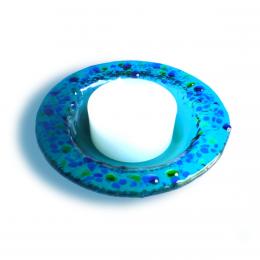 Portacandela azzurro - serie lapilli