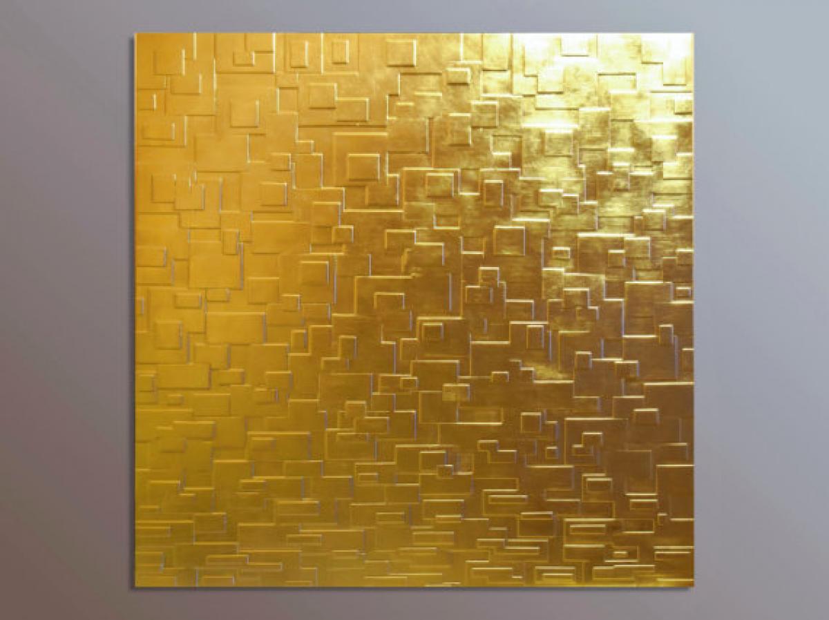 Pannelli decorativi 3d pannello foglia oro livingdeco 39 - Pannello decorativo per porte ...