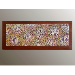 Scultura da parete bianca, gialla, arancione