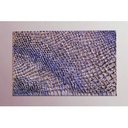 Scultura da parete blu e ottone