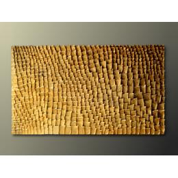Scultura da parete in foglia oro
