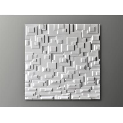 Quadro tridimensionale bianco