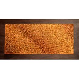 Scultura da parete rosso e arancione