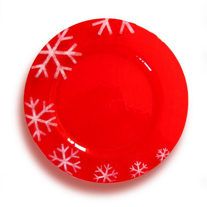 Piatto natalizio rosso