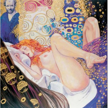 Stampa quadro su tela di Milo Manara - Klimt