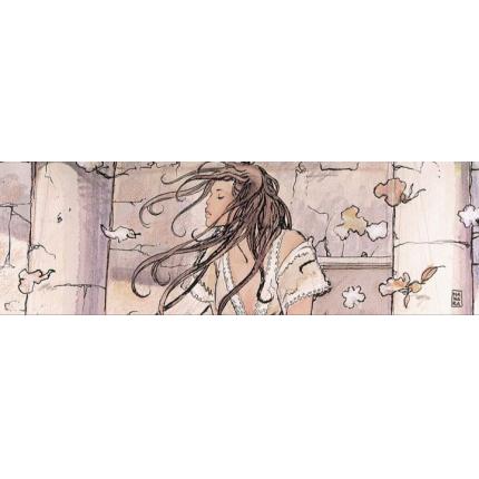 Stampa quadro su tela di Milo Manara - Wind