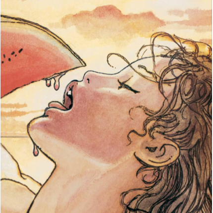 Stampa quadro su tela di Milo Manara - Coco