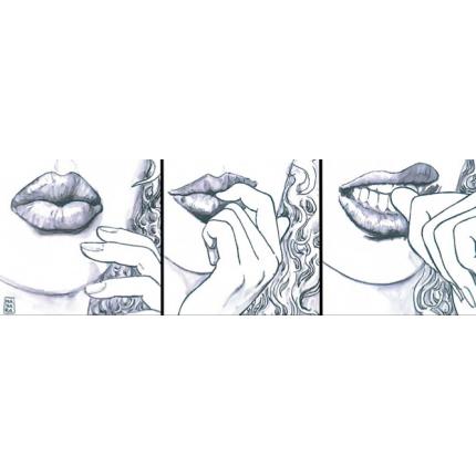 Stampa quadro su tela di Milo Manara - Lips