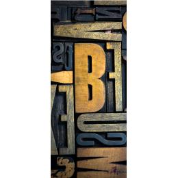 Adesivo per porte typograpgy abstract livingdeco 39 - Adesivi decorativi per porte ...