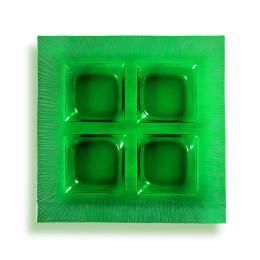 Porta aperitivi verde - decori grigi