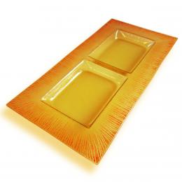 Antipastiera rettangolare gialla