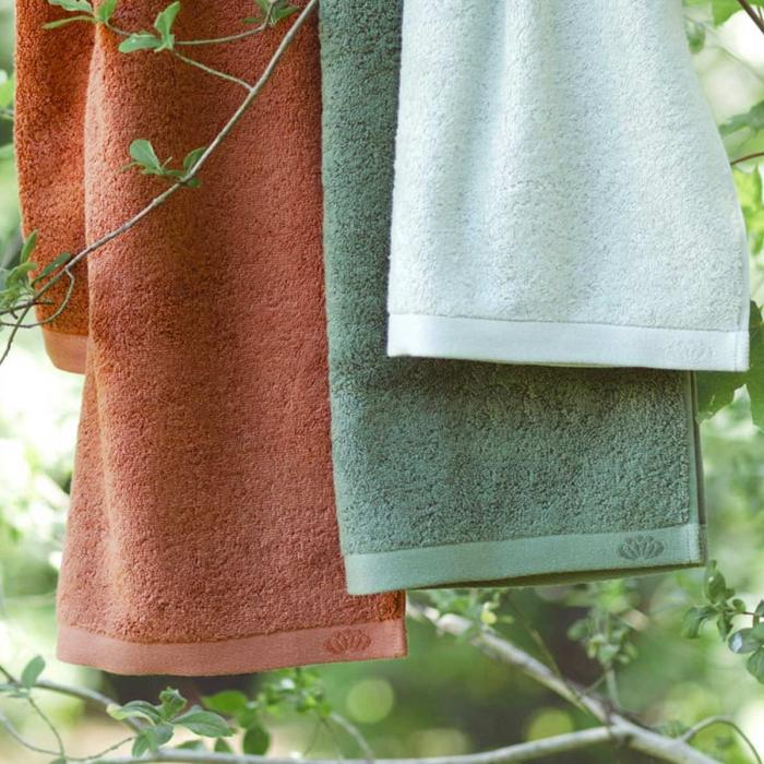 Botanic Deluxe - Asciugamano rosso terracotta