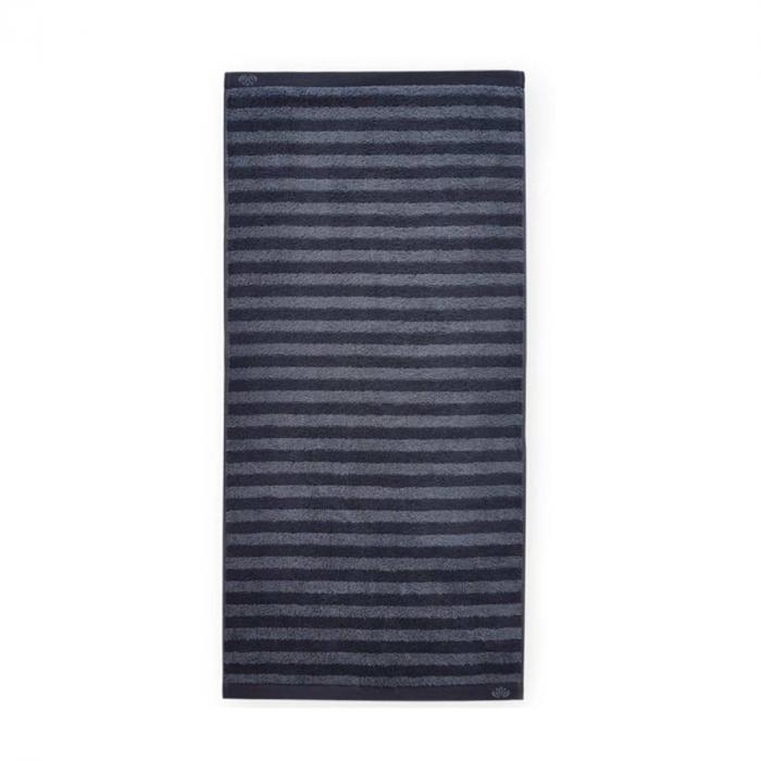 Homely - Asciugamano a righe nere e grigie