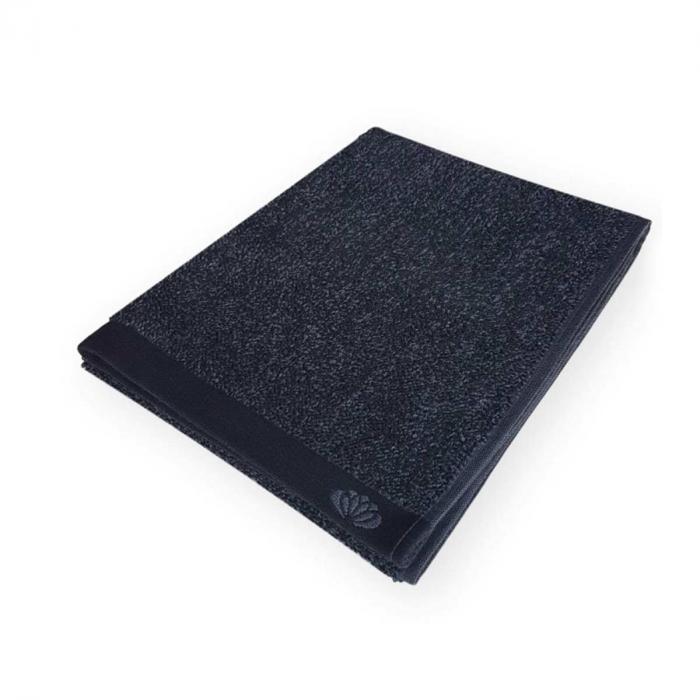 Homely - Asciugamano nero melange