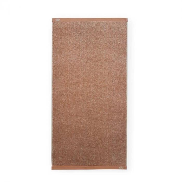 Homely - Asciugamano melange terracotta