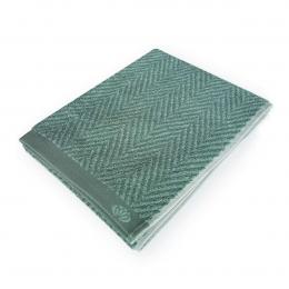 Homely - Asciugamano verde con motivo a lisca di pesce