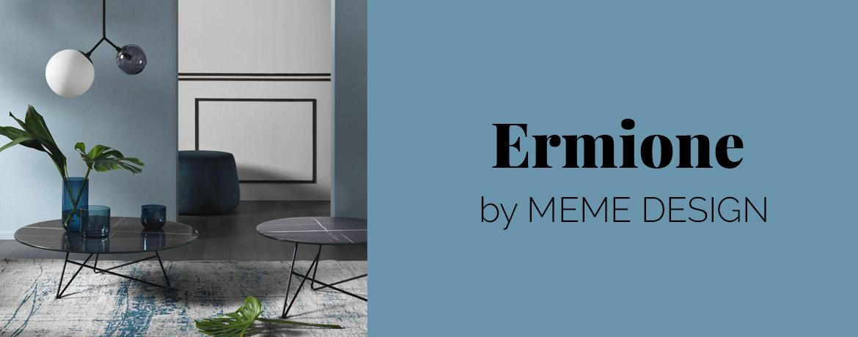Tavolini bassi by Meme Design - struttura in metallo e top in vari materiali