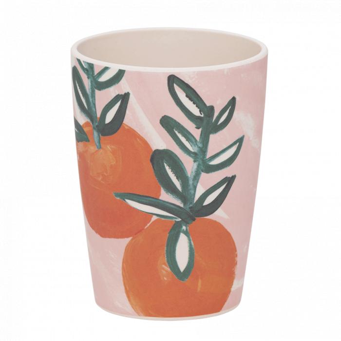 Bicchiere in bamboo Sicilian Summer Pink Orange
