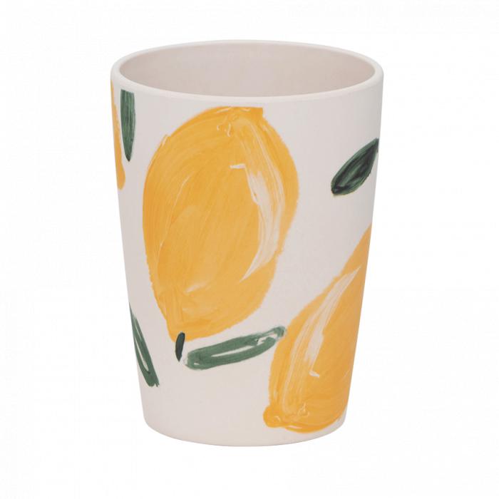 Bicchiere in bamboo Sicilian Summer Lemon