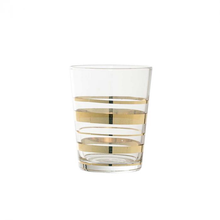 Just - Bicchiere da bagno in vetro dorato