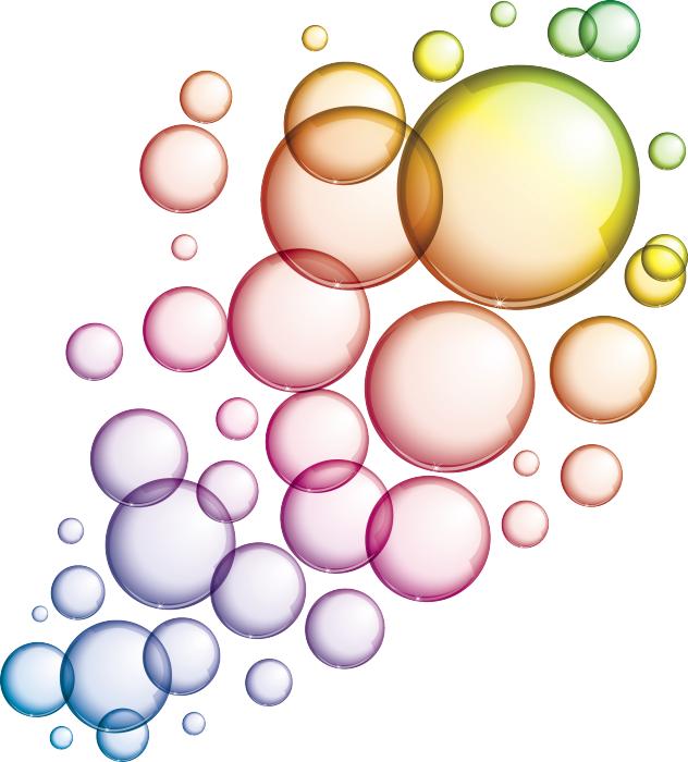 Sticker muro o vetro con bolle di sapone livingdeco 39 for Immagini di pareti colorate