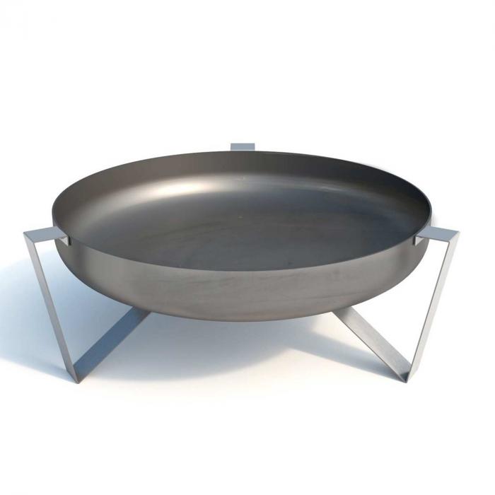 Etna - braciere in acciaio inox