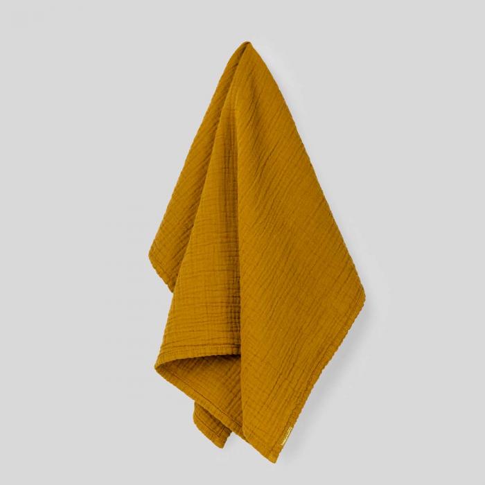 Canovaccio in garza di cotone giallo zafferano
