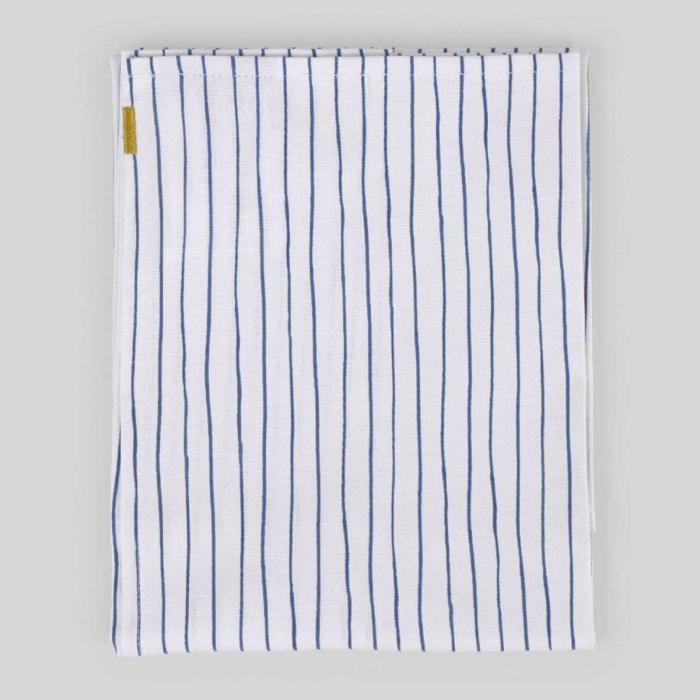 Canovaccio in cotone a righe blu