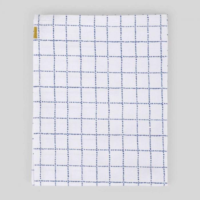 Canovaccio in cotone a quadretti blu
