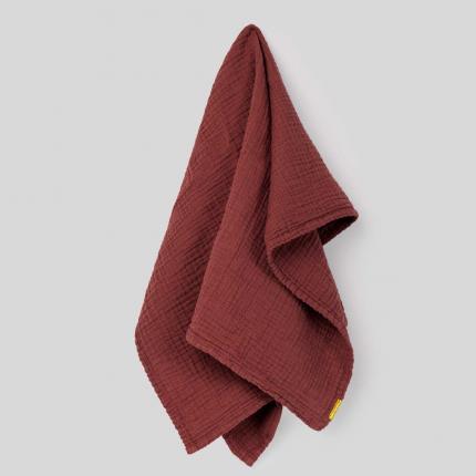 Canovaccio in garza di cotone rosso ruggine
