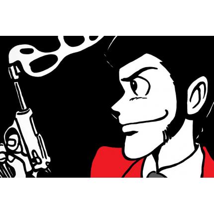 Stampa quadro su tela di Lupin - La pistola di Lupin