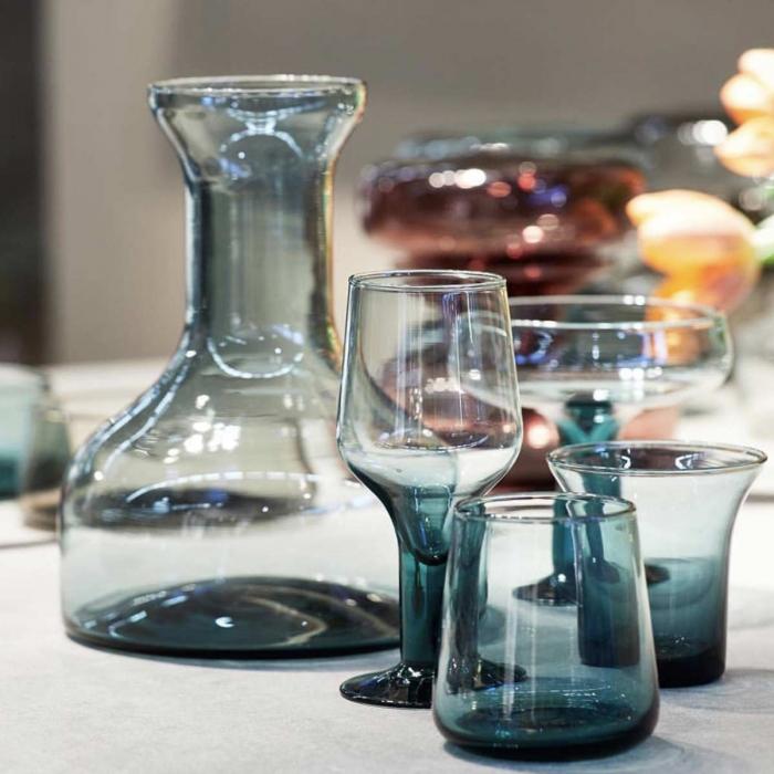 Host - Caraffa in vetro blu