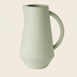 Caraffa in ceramica verde menta