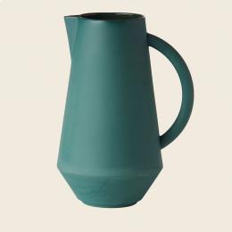 Caraffa in ceramica verde acqua
