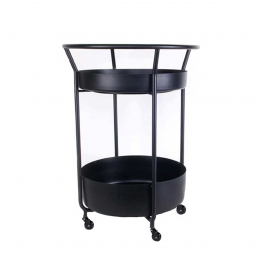 Corona - carrello bar nero
