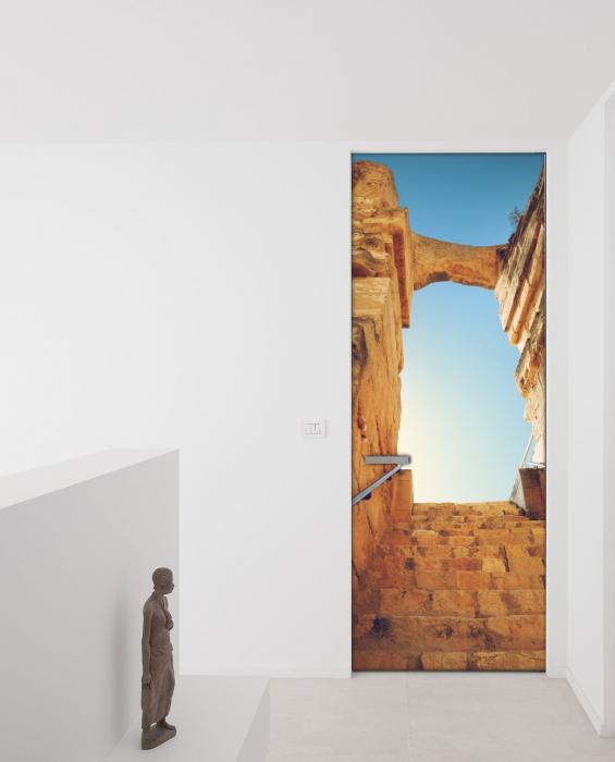 Adesivo per porte antiche rovine livingdeco 39 for Carta adesiva per porte