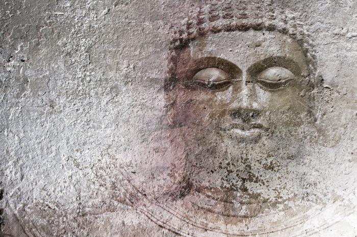 Carta Da Parati Moderna Texture.Carta Da Parati Moderna Raffigurante Il Buddha Livingdeco
