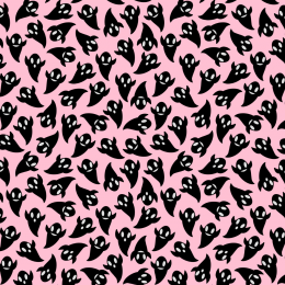 Black Ghosts on Pink