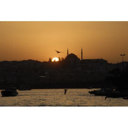 Tramonto su Istanbul