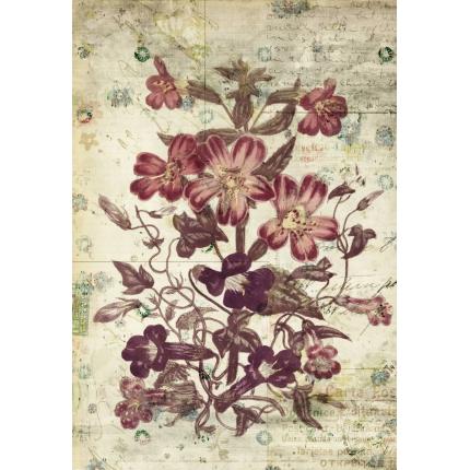 Cartolina vintage fiori