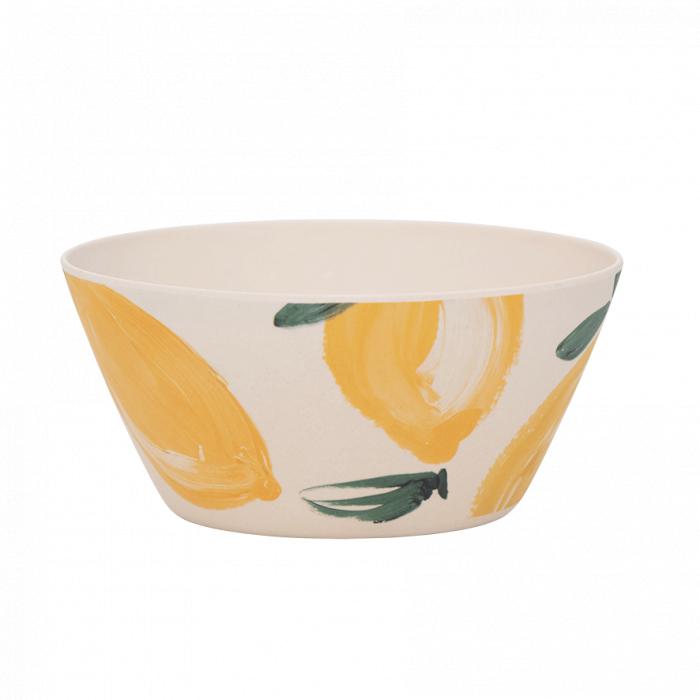 Ciotola 15 cm in bamboo Sicilian Summer Lemon