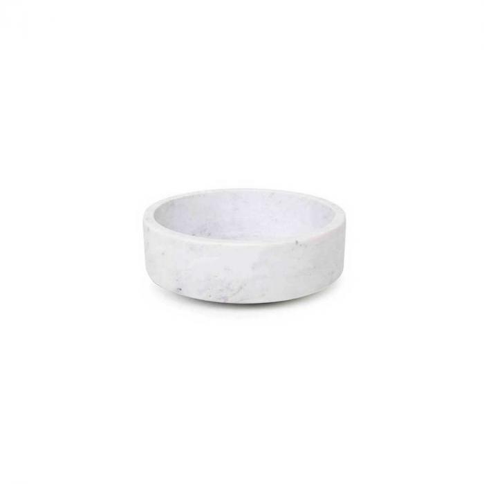 Forte medium - ciotola in marmo bianco