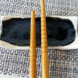 Ciotola poggia bacchette blu
