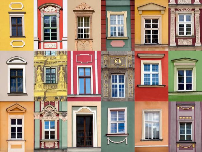 Foto murale architettura collage di finestre livingdeco 39 - Foto di finestre ...