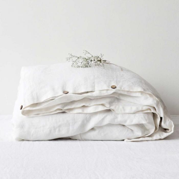 Pure white - copripiumino bianco in lino